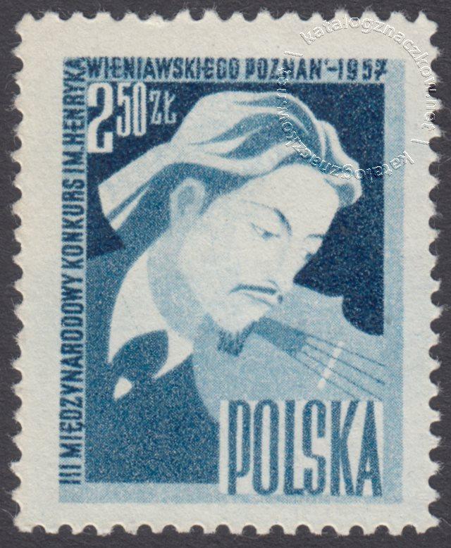 III Międzynarodowy Kongres Skrzypcowy im. Henryka Wieniawskiego znaczek nr 889