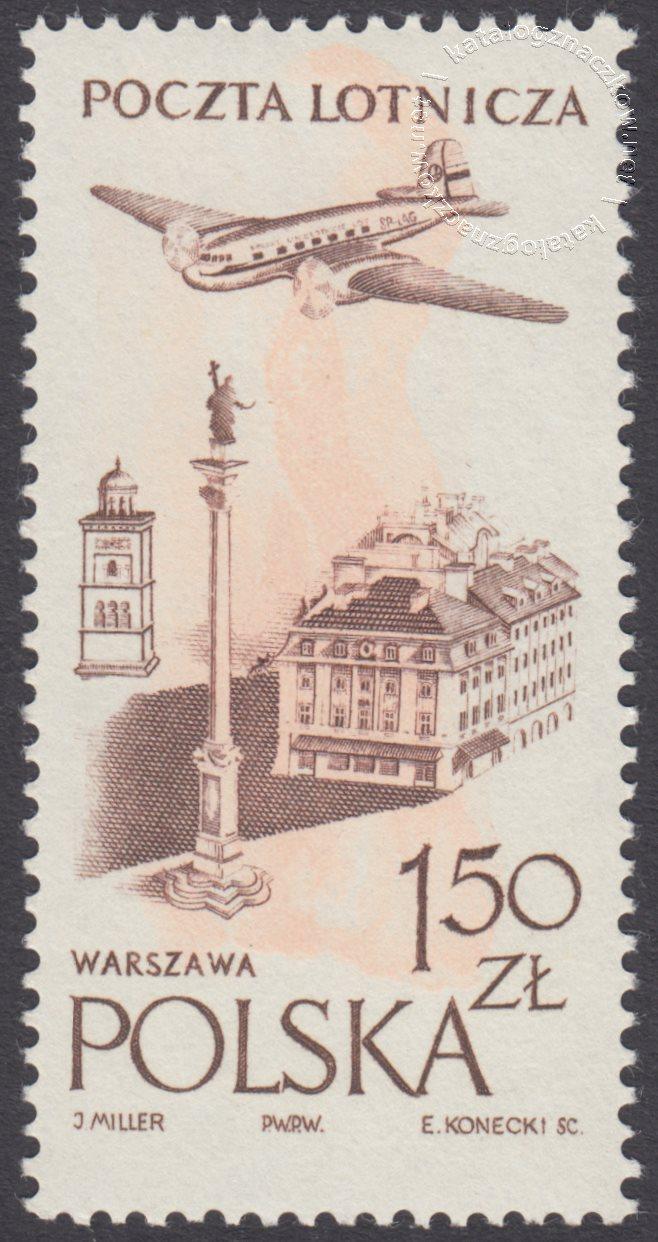 Wydanie na przesyłki lotnicze znacczek nr 891