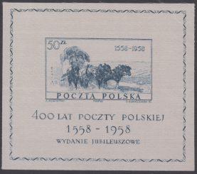 400-lecie Poczty Polskiej - Blok 21