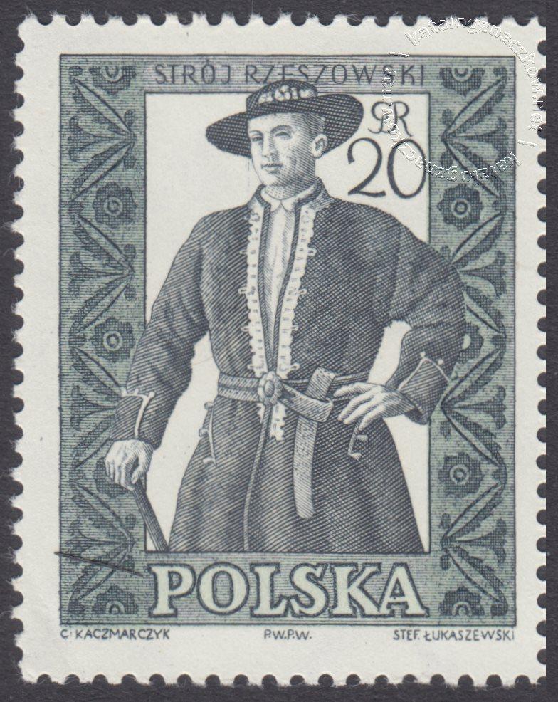 Polskie stroje ludowe znaczek nr 994B
