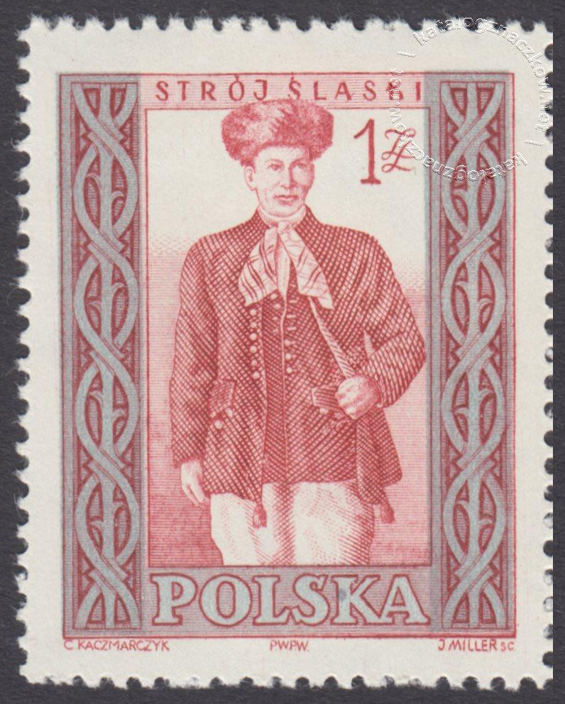 Polskie stroje ludowe znaczek nr 998B