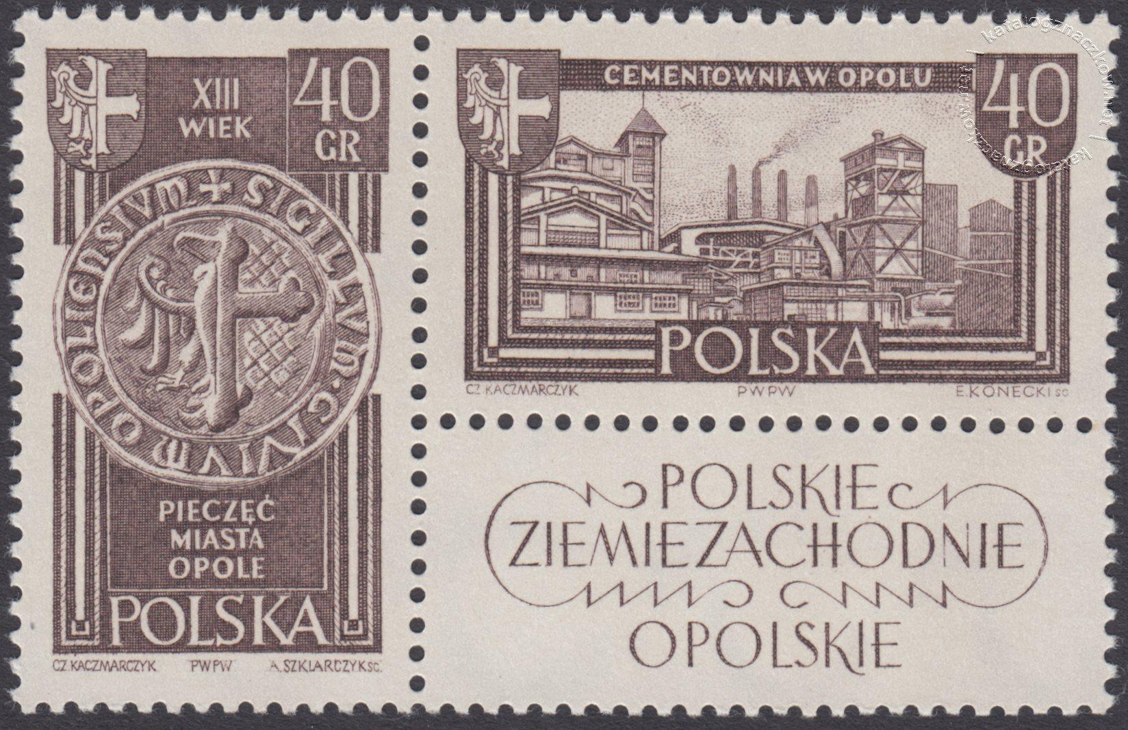 Polskie Ziemie Zachodnie znaczki nr 1103-1104