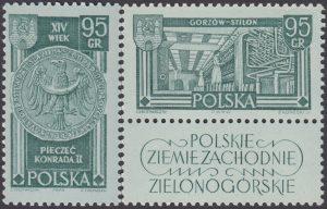 Polskie Ziemie Zachodnie znaczki nr 1153-1154