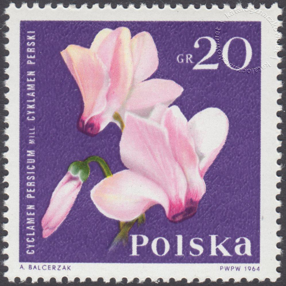 Kwiaty ogrodowe znaczek nr 1392