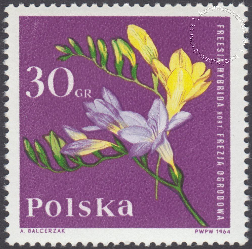 Kwiaty ogrodowe znaczek nr 1393