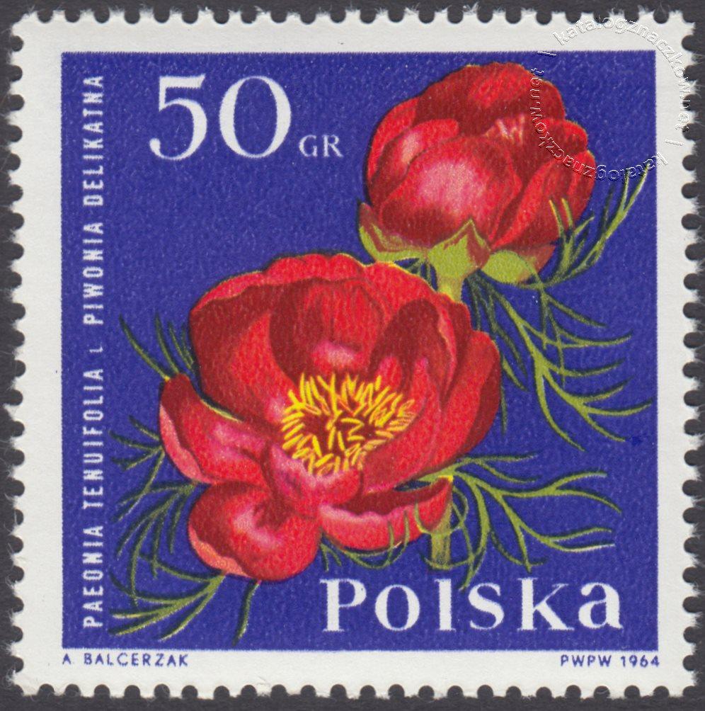 Kwiaty ogrodowe znaczek nr 1395