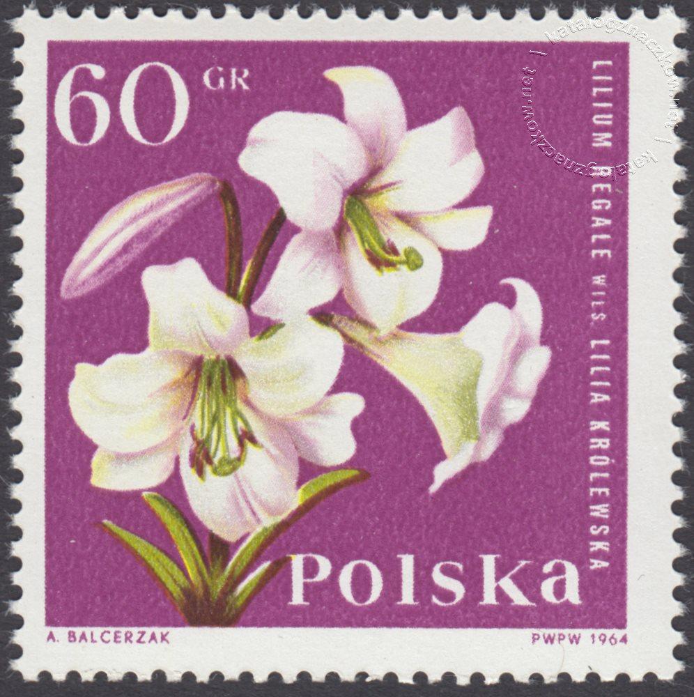 Kwiaty ogrodowe znaczek nr 1396