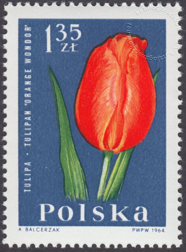 Kwiaty ogrodowe znaczek nr 1398