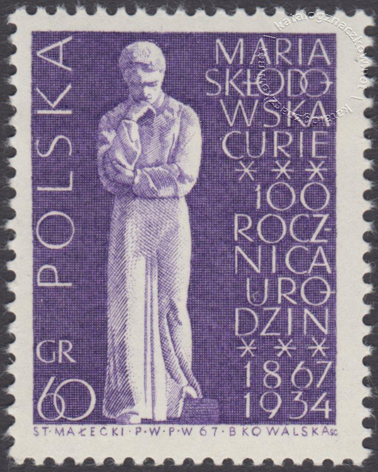 100 rocznica urodzin Marii Skłodowskiej Curie znaczek nr 1632