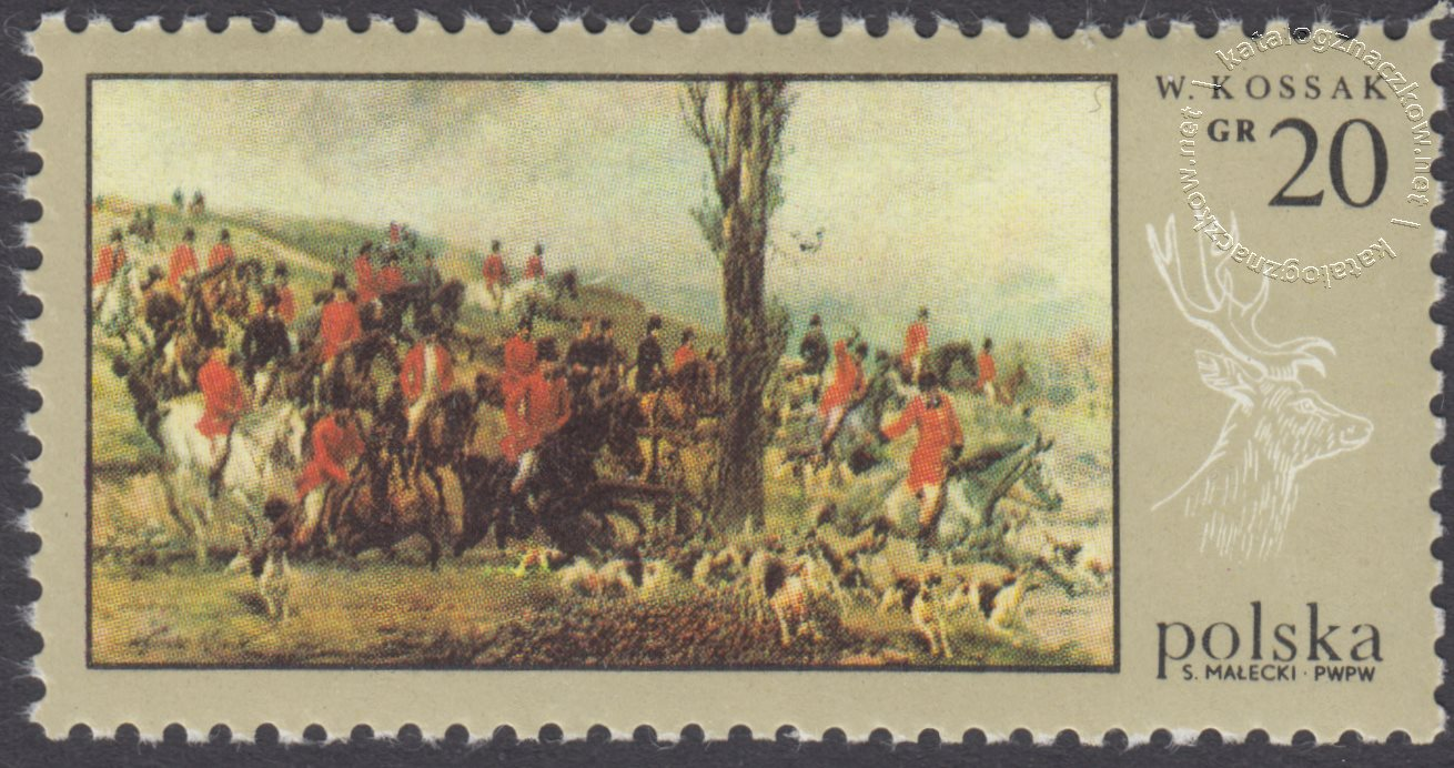 Łowiectwo w malarstwie znaczek nr 1743