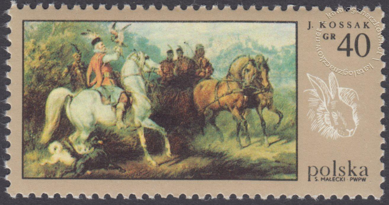 Łowiectwo w malarstwie znaczek nr 1744