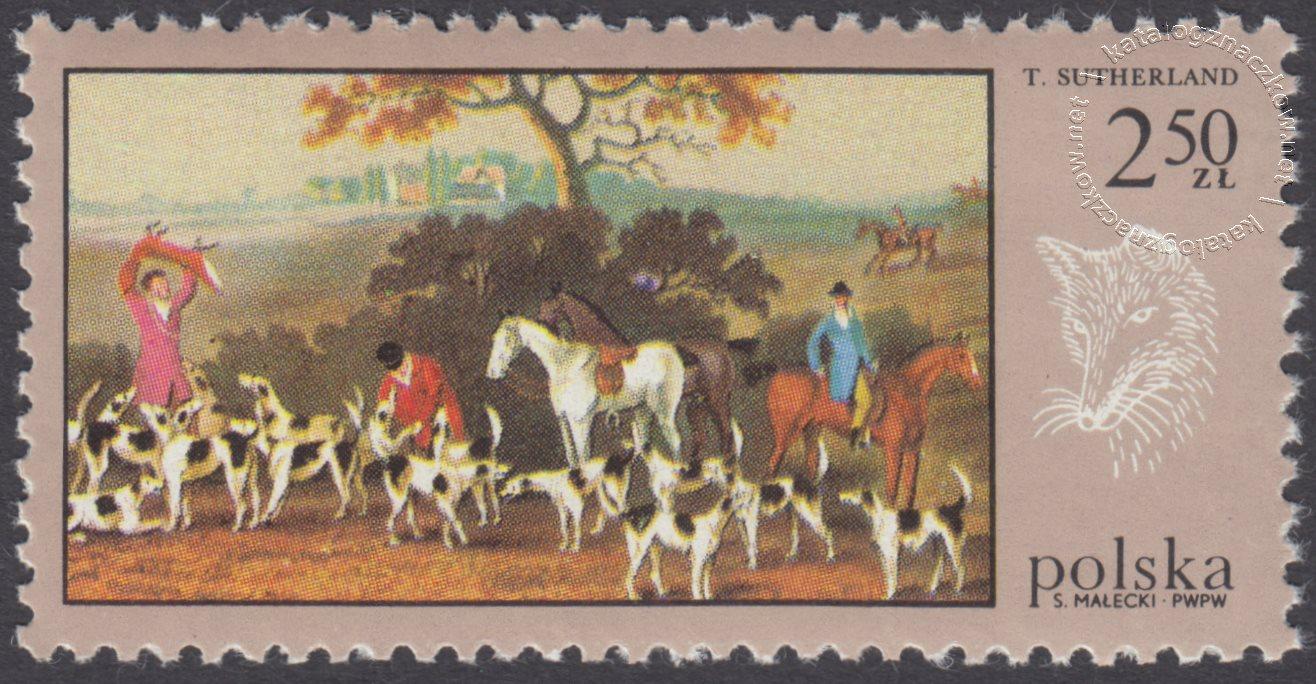 Łowiectwo w malarstwie znaczek nr 1747