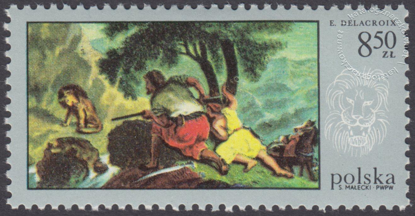 Łowiectwo w malarstwie znaczek nr 1750