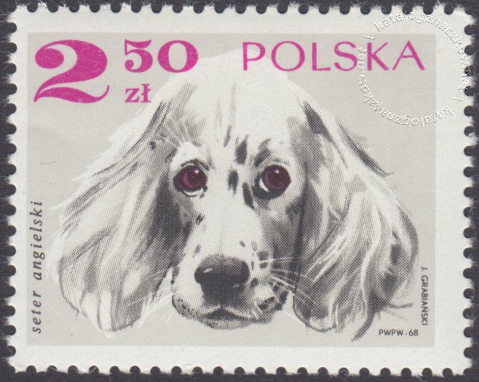 Rasy psów znaczek nr 1755