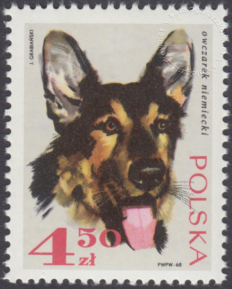 Rasy psów znaczek nr 1757