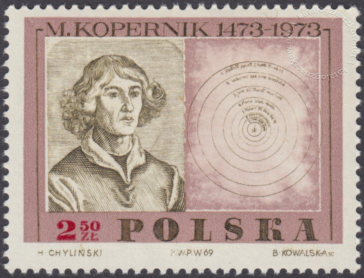 500 rocznica urodzin Mikołaja Kopernika znaczek nr 1780