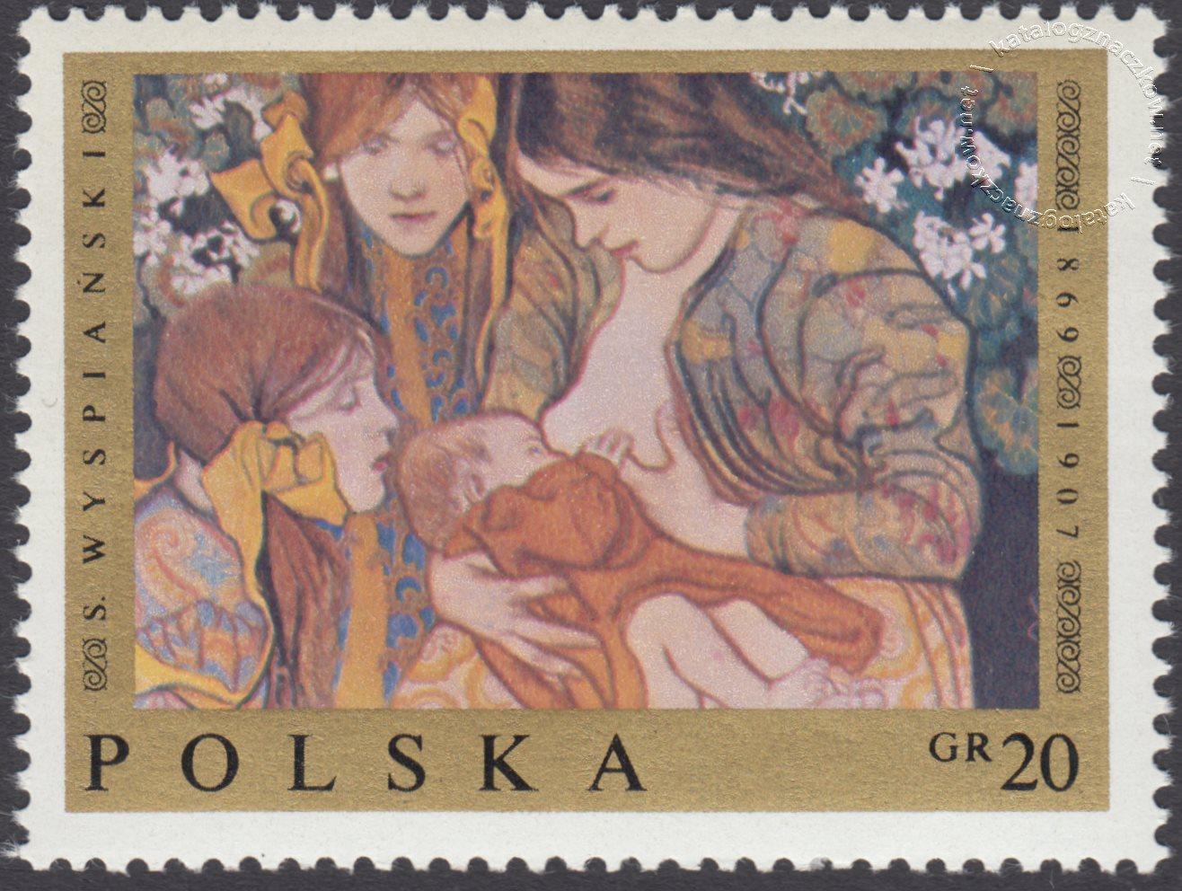 Malarstwo polskie znaczek nr 1794