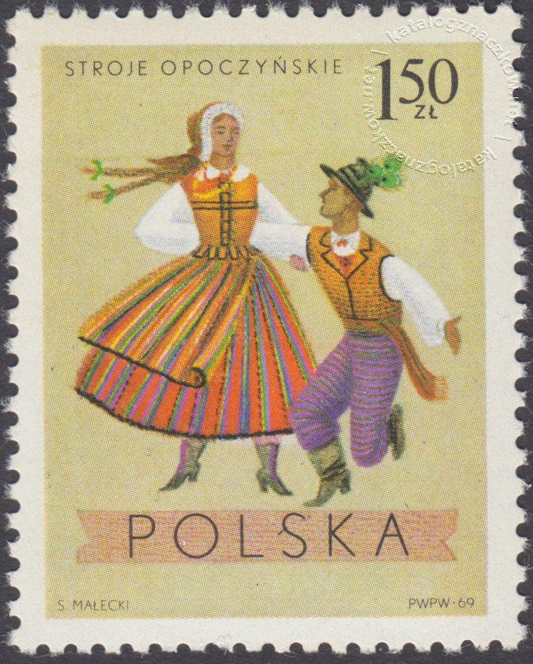 Polskie stroje Ludowe znaczek nr 1808