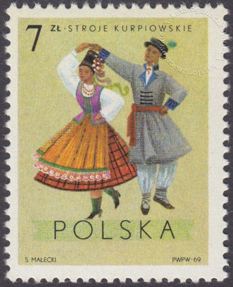 Polskie stroje Ludowe znaczek nr 1811