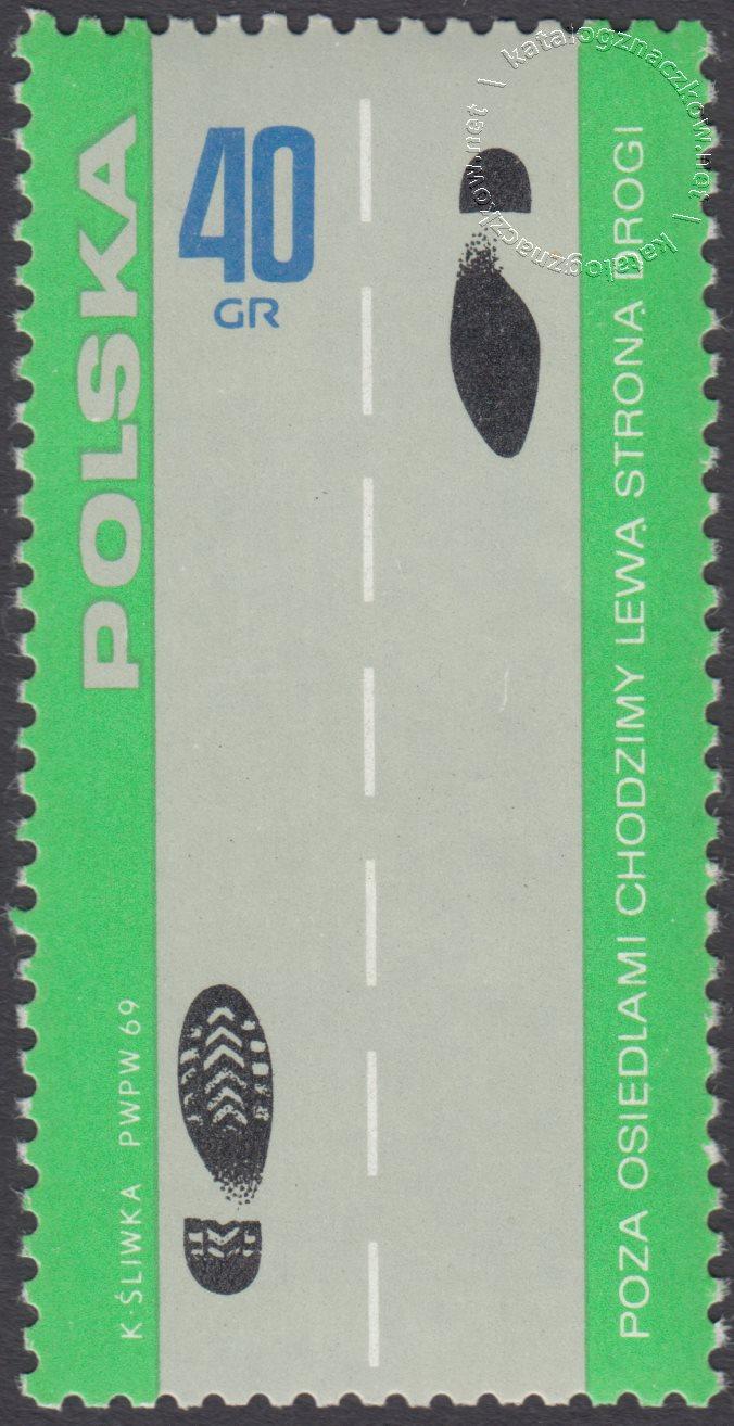 Bezpieczeństwo ruchu na drogach publicznych znaczek nr 1812