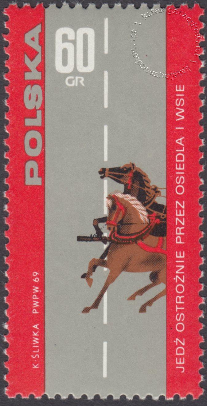 Bezpieczeństwo ruchu na drogach publicznych znaczek nr  1813