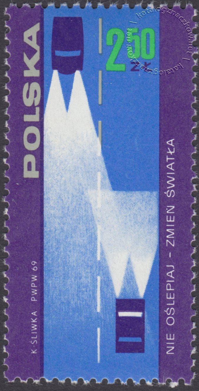 Bezpieczeństwo ruchu na drogach publicznych znaczek nr 1814