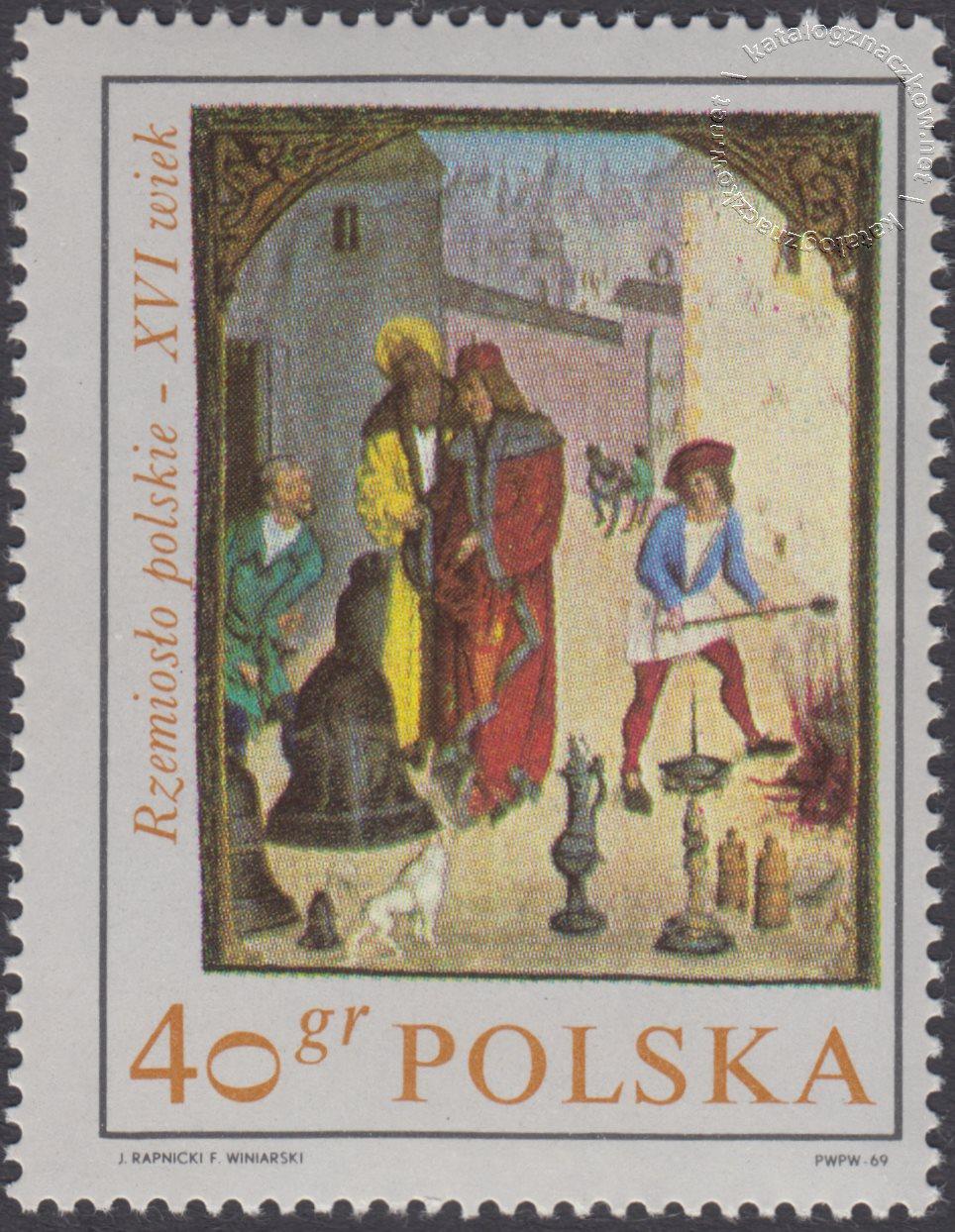 Rzemiosło polskie w XVI wiecznym malarstwie z kodeksu Baltazara Behema znaczek nr 1816