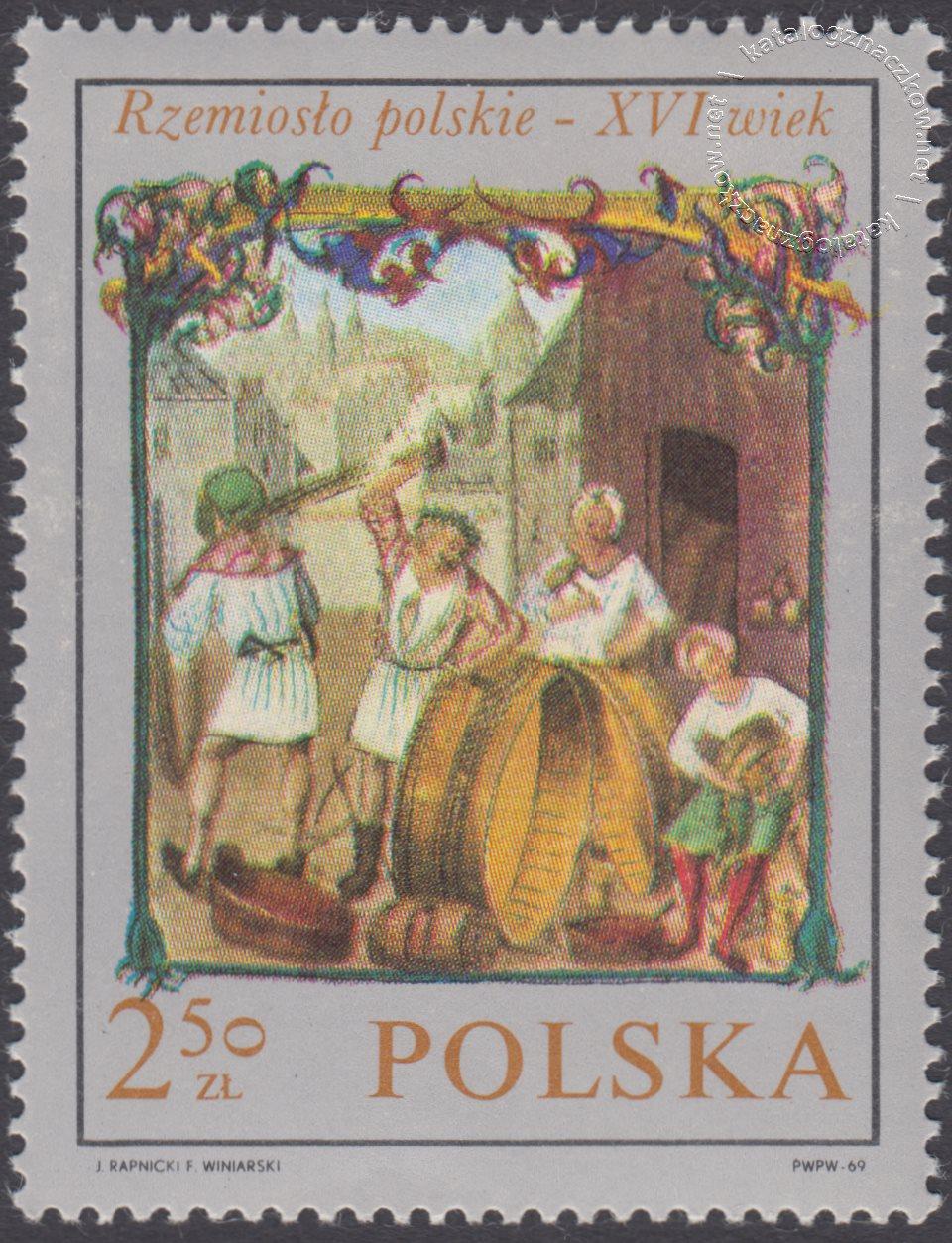 Rzemiosło polskie w XVI wiecznym malarstwie z kodeksu Baltazara Behema znaczek nr 1820