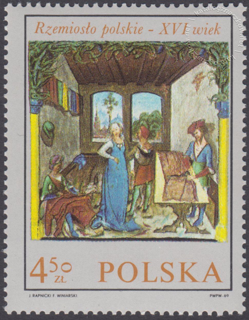 Rzemiosło polskie w XVI wiecznym malarstwie z kodeksu Baltazara Behema znaczek nr 1822
