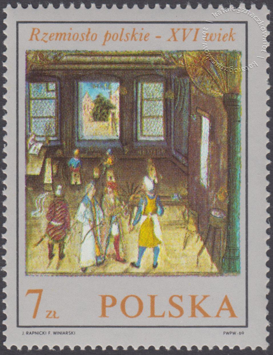 Rzemiosło polskie w XVI wiecznym malarstwie z kodeksu Baltazara Behema znaczek nr 1823