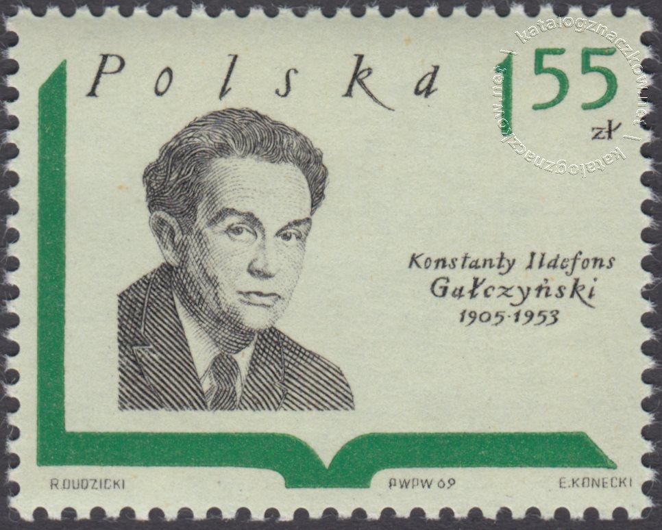 Współcześni pisarze polscy znaczek nr 1836