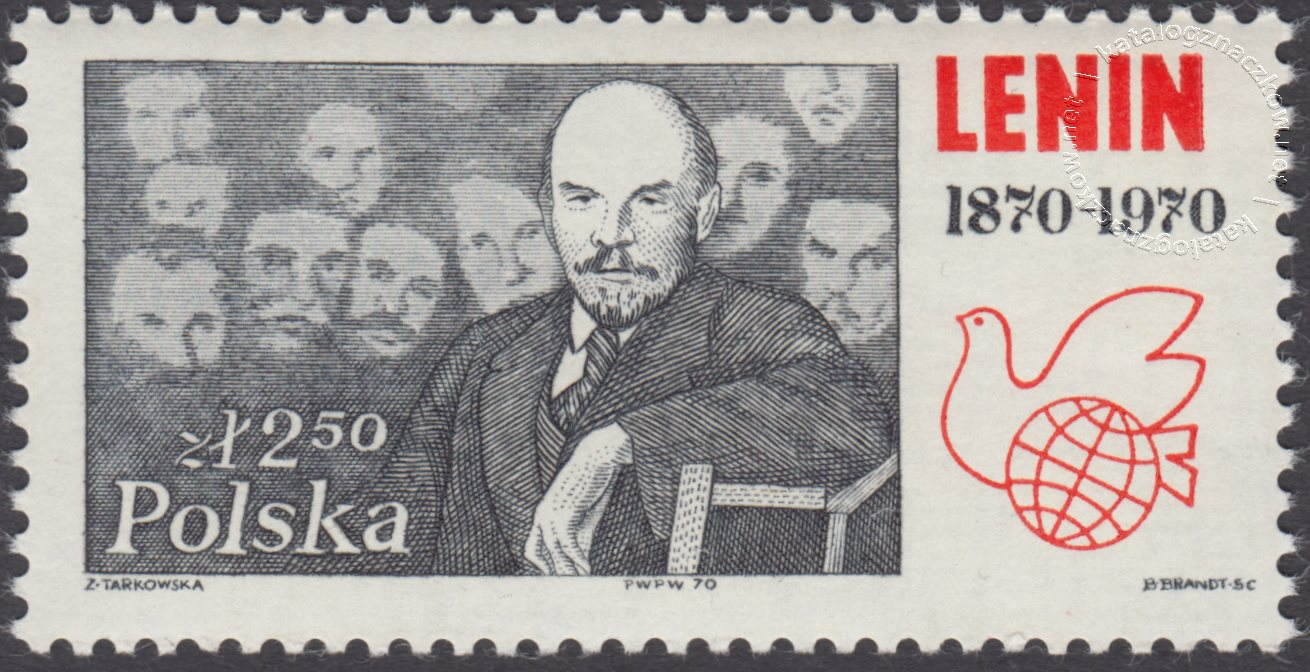 100 rocznica urodzin Włodzimierza Lenina znaczek nr 1851