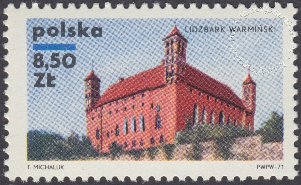 Zamki polskie znaczek nr 1918