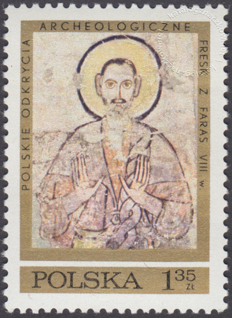Polskie odkrycia archeologiczne – freski z Faras znaczek nr 1926