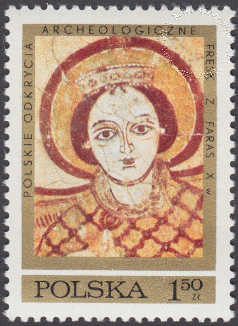 Polskie odkrycia archeologiczne – freski z Faras znaczek nr 1927