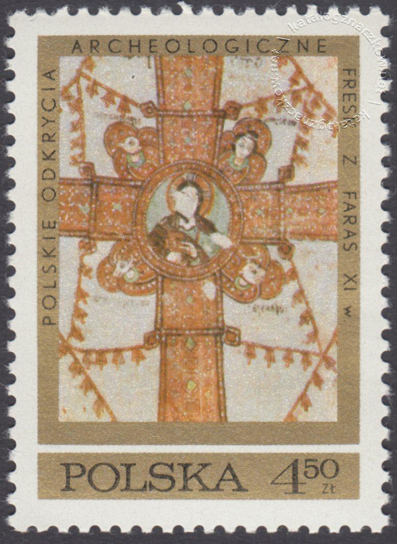 Polskie odkrycia archeologiczne – freski z Faras znaczek nr 1928
