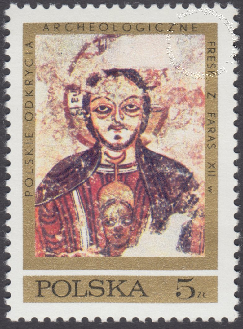 Polskie odkrycia archeologiczne – freski z Faras znaczek nr 1929