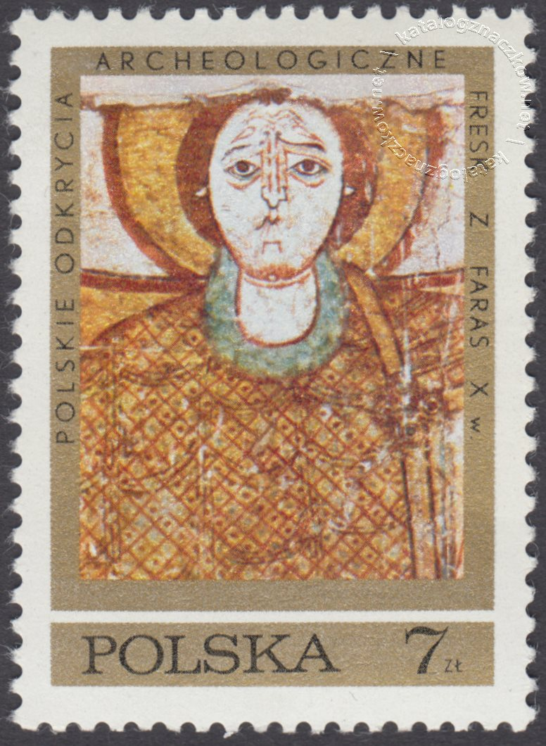 Polskie odkrycia archeologiczne – freski z Faras znaczek nr 1930