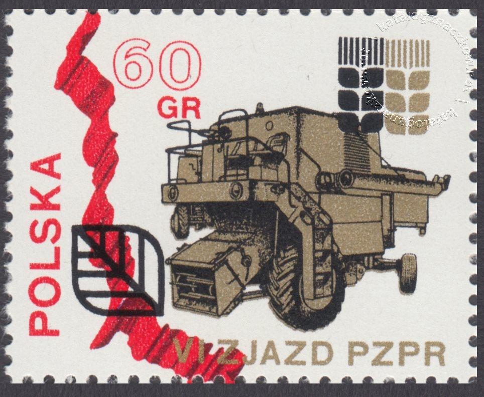 VI Zjazd PZPR znaczek nr 1981