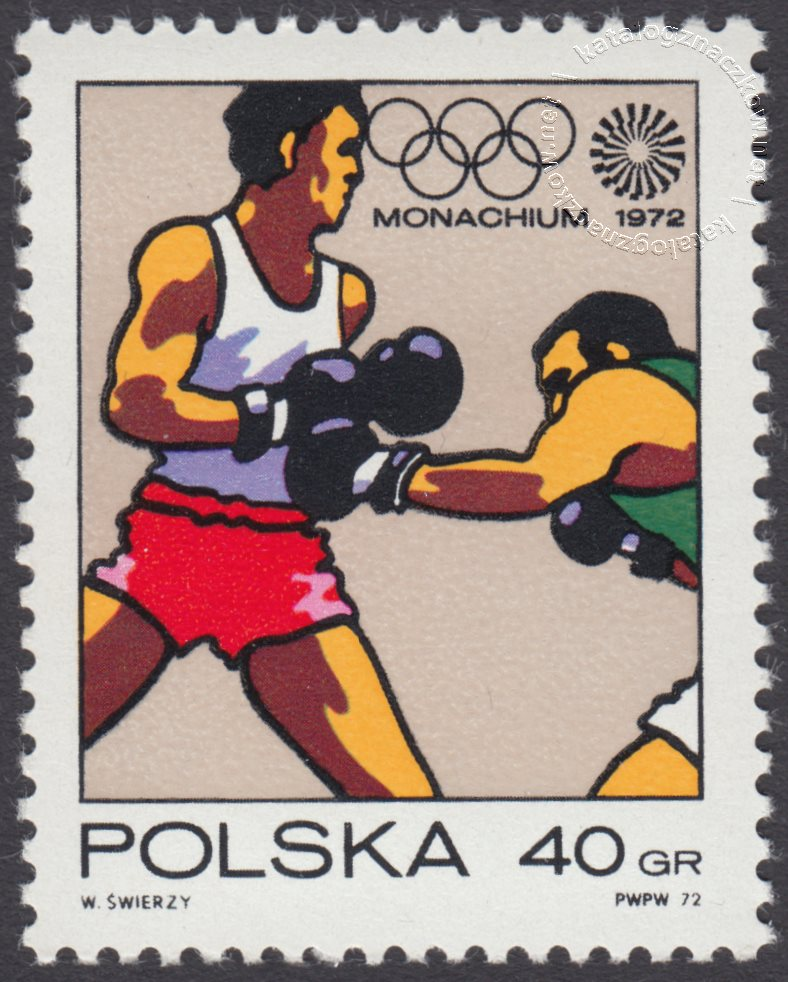 XX Igrzyska Olimpijskie w Monachium znaczek nr 2004