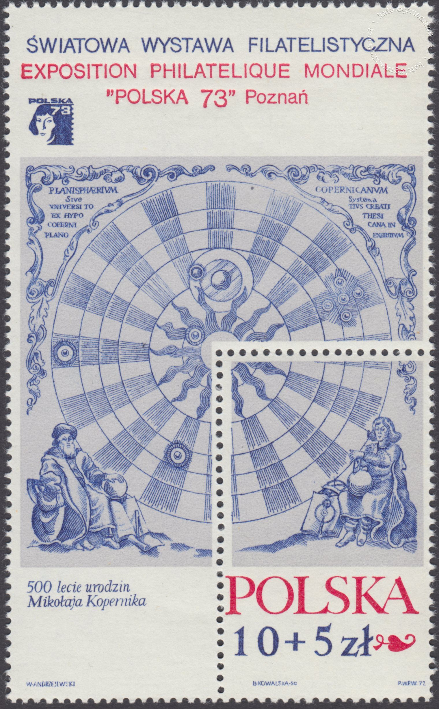500 rocznica urodzin Mikołaja Kopernika – Blok 45