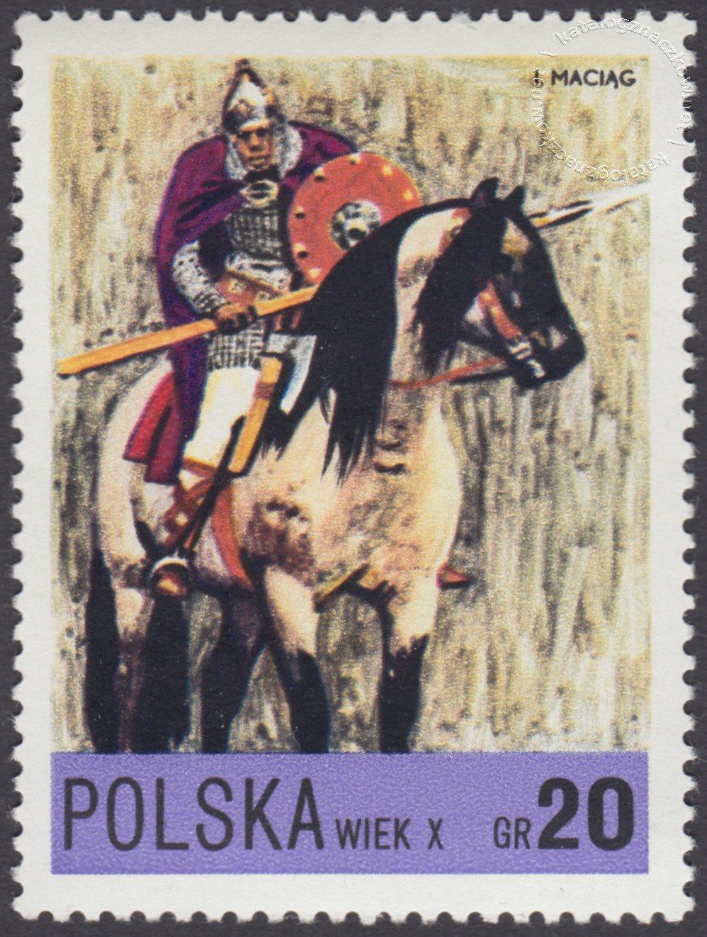 Jazda polska X-XXw. znaczek nr 2075