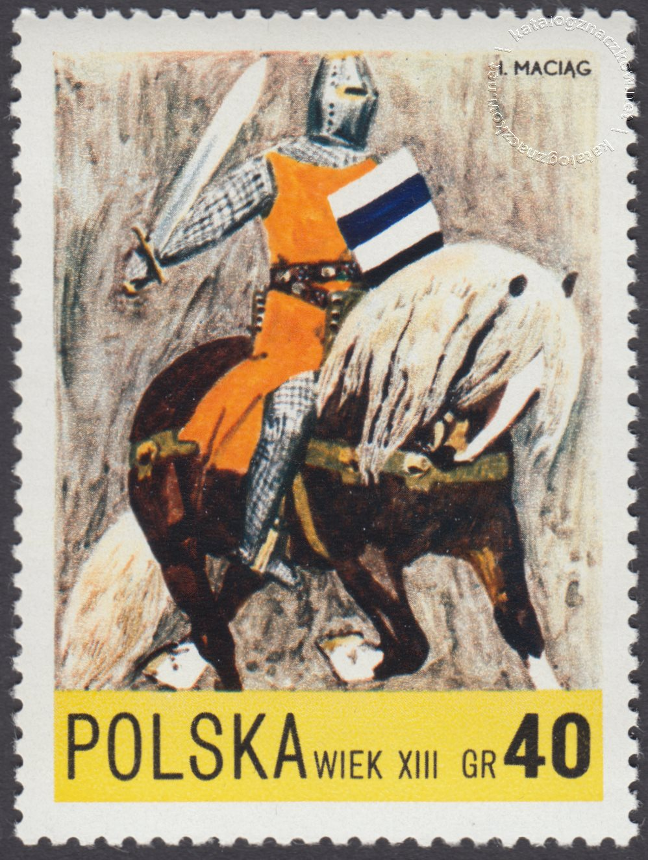 Jazda polska X-XXw. znaczek nr 2076