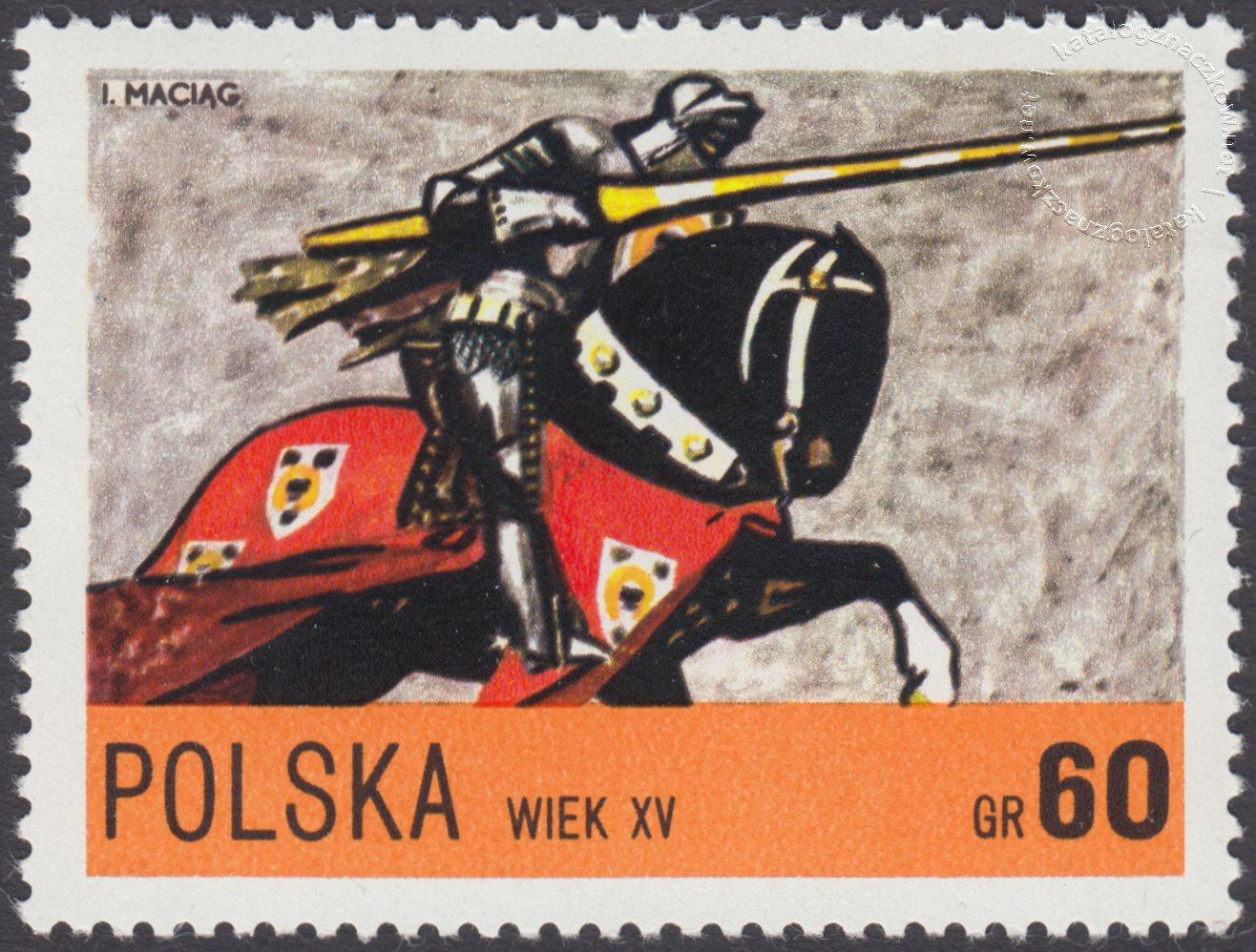 Jazda polska X-XXw. znaczek nr 2077