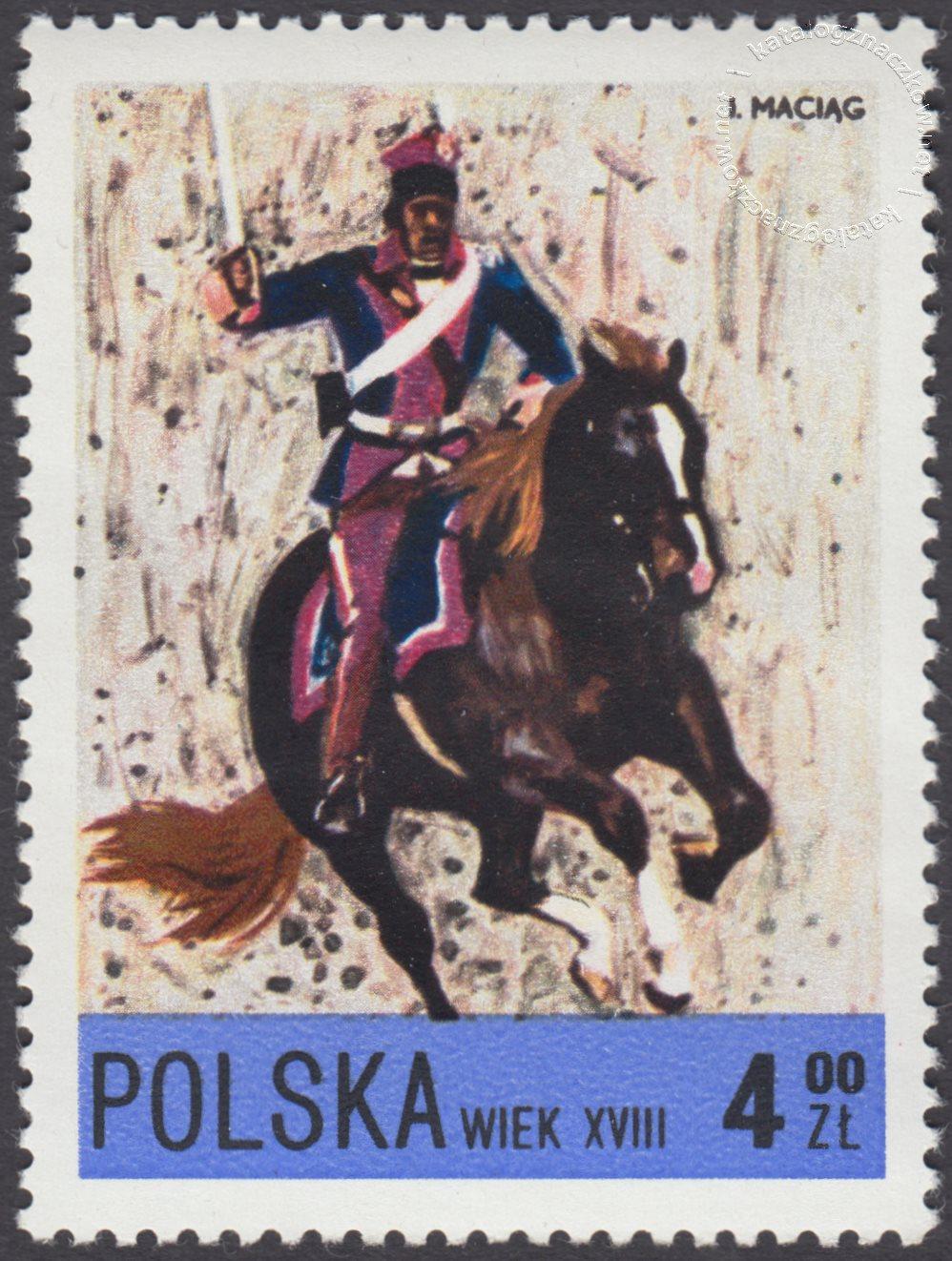 Jazda polska X-XXw. znaczek nr 2079