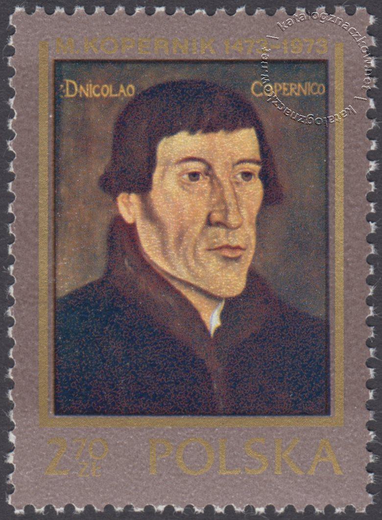 500 rocznica urodzin Mikołaja Kopernika znaczek nr 2087