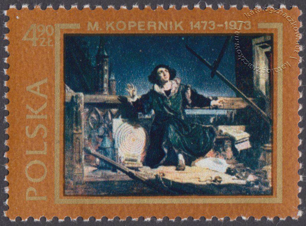 500 rocznica urodzin Mikołaja Kopernika znaczek nr 2089