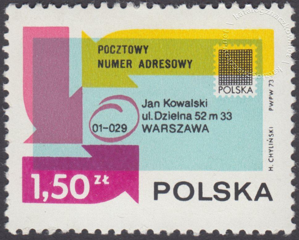 Popularyzacja kodu pocztowego znaczek nr 2099