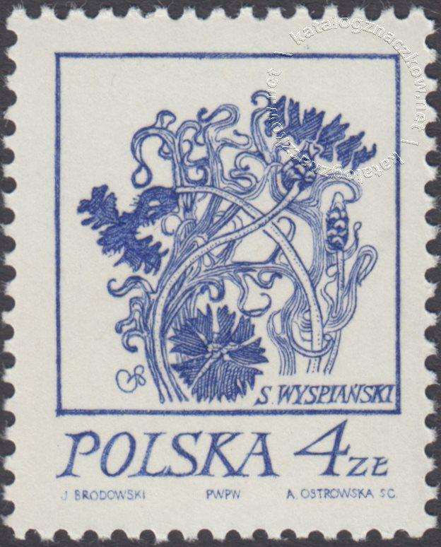 Rośliny w twórczości Stanisława Wyspiańskiego znaczek nr 2152