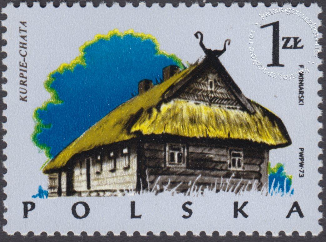 Polskie budownictwo drewniane znaczek nr 2154